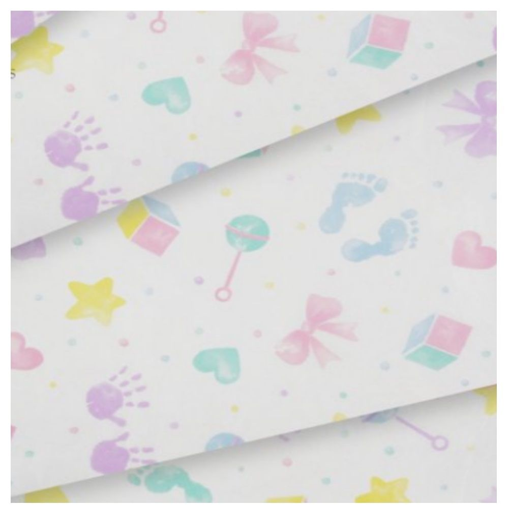 Baby Hand Foot Prints Patterned New Born Christening Tissue