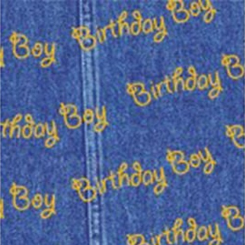 Blue Birthday Boy Patterned Tissue Wrapping Paper Large Sheets 50cm X 75cm