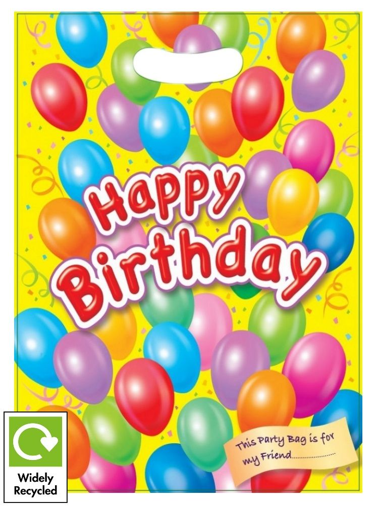 Happy Birthday Balloon Party Loot Bag