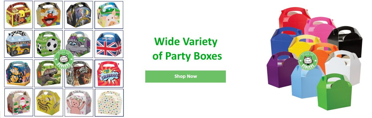 Wide Variety of Party Boxes Available